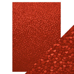 Craft Perfect - Hand Crafted Cotton Paper - Red Berries - A4 (5/PK) - 9817e - tonicstudios