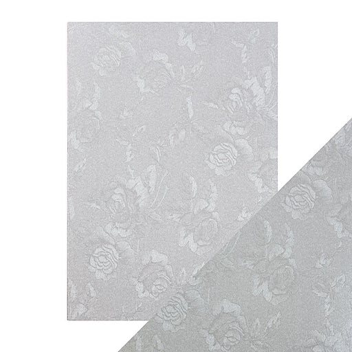 Craft Perfect - Luxury Embossed Card - Steel Toile - A4 (5/PK) - 9820e - tonicstudios