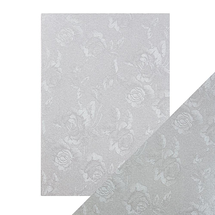 Craft Perfect - Luxury Embossed Card - Steel Toile - A4 (5/PK) - tonicstudios