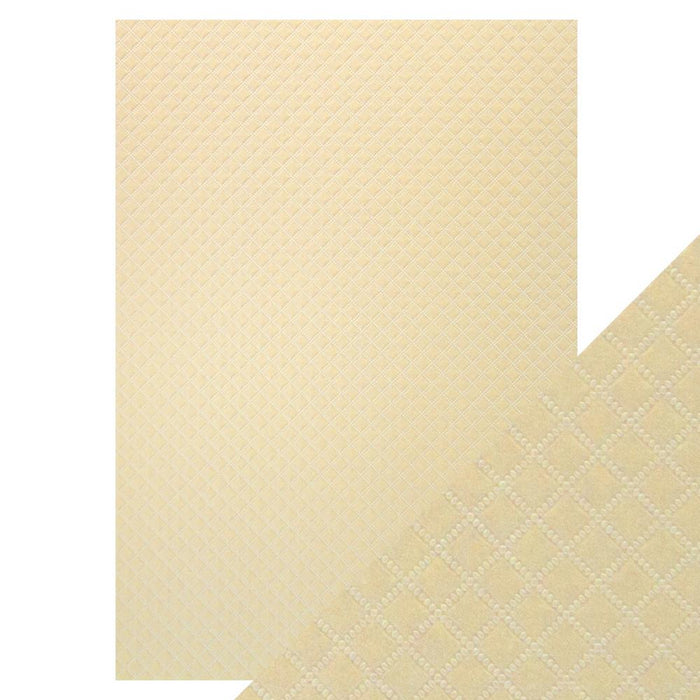 Craft Perfect - Luxury Embossed - Champagne Harlequin - A4 (5/PK) - 9824e - tonicstudios