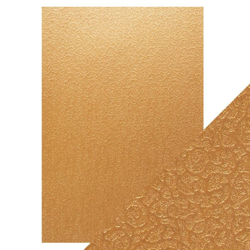 Craft Perfect - Luxury Embossed Card - Bronze Labyrinth - A4 (5/PK)  - 9831e - tonicstudios