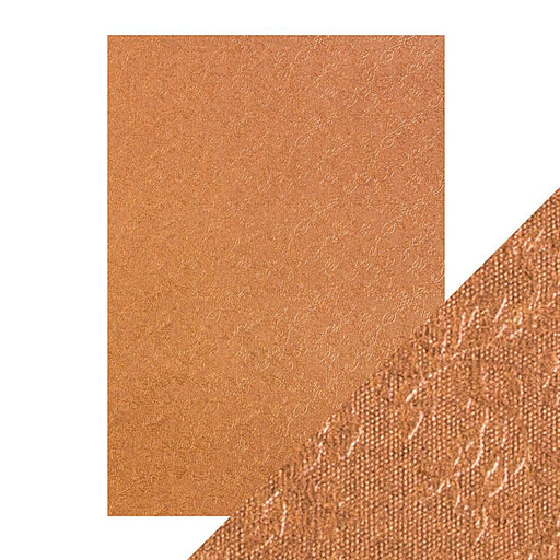 Craft Perfect - Luxury Embossed Card - Copper Rose  - A4 (5/PK) - 9832e - tonicstudios