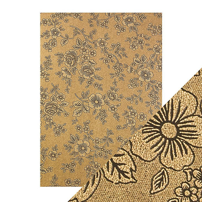 Craft Perfect - Luxury Embossed Card - Umber Etching - A4 (5/PK) - 9833e - tonicstudios