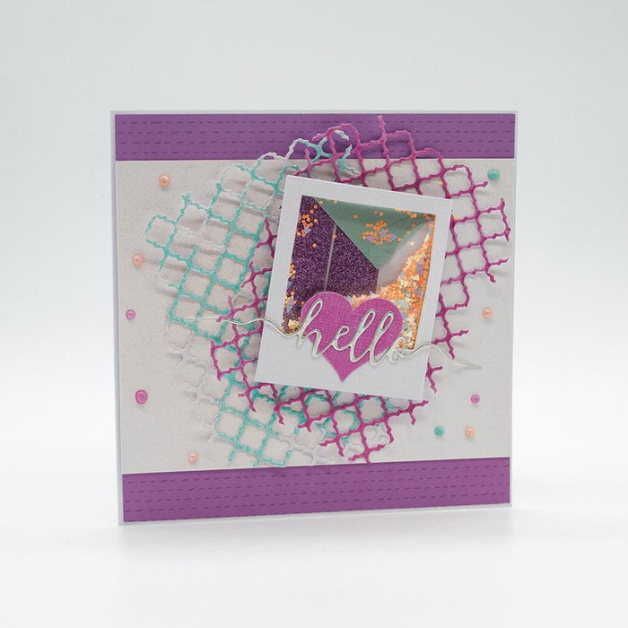 Craft Perfect - Speciality Card - Luxury Embossed - Lilac Waves - A4 - 5 Pack - 9843E - tonicstudios
