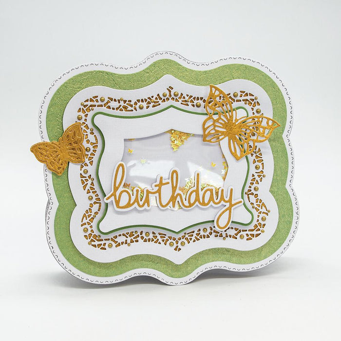 Craft Perfect - Speciality Card - Green Leaves - A4 - 9844E - tonicstudios