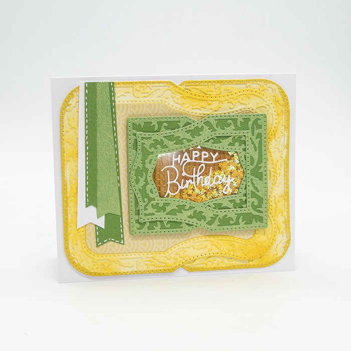 Craft Perfect - Speciality Card - Luxury Embossed - Green Leaves - A4 - 5 Pack - 9844E - tonicstudios