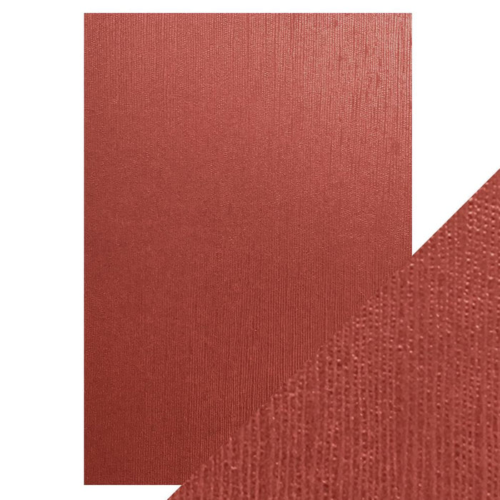 Craft Perfect - Speciality Card - Luxury Embossed - Crimson Silk - A4 - 5 Pack - 9846E - tonicstudios