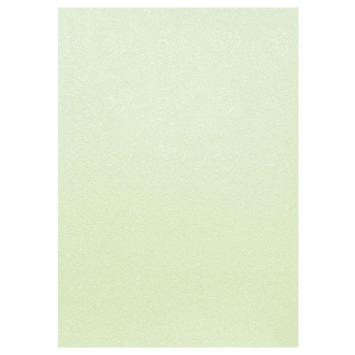 "Craft Perfect - Speciality Card - Luxury Embossed - Sage Roses - 8.5""x11"" (5/PK) - 230gsm - 9849E"