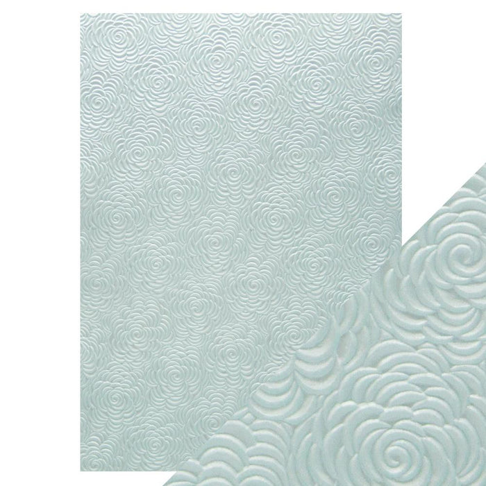 Craft Perfect - Hand Crafted Cotton Paper - Iced Petals - A4 (5/PK) - tonicstudios
