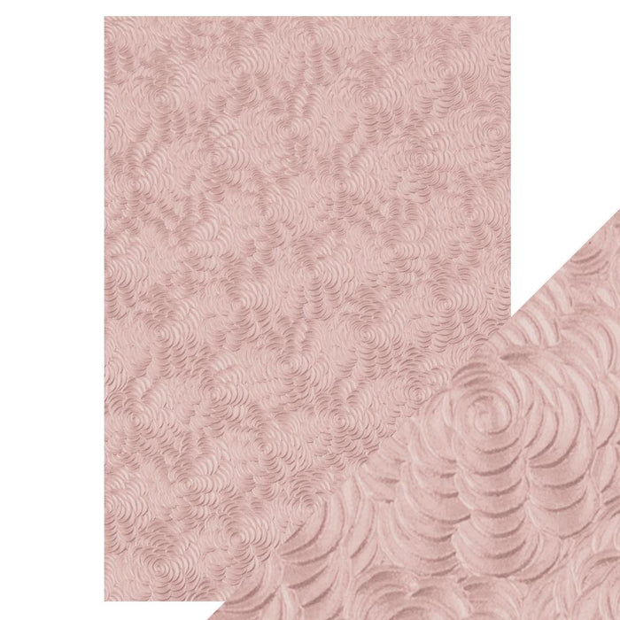 "Craft Perfect - Speciality Paper - Hand Crafted Cotton - Pink Petals - 8.5""x11""(5/PK) - 150gsm - 9884e"