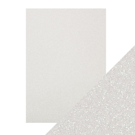 Craft Perfect - Glitter Card - Sugar Crystal - A4 (5/PK) - 9948e - tonicstudios