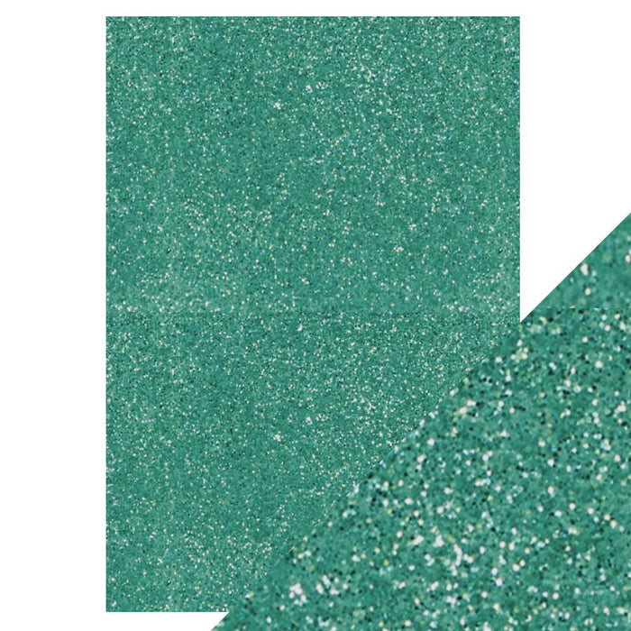 Craft Perfect - Glitter Card - Turquoise Lake - 8.5 x 11 (5/Pk) - 9974e - tonicstudios