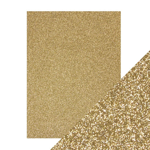 "Craft Perfect - Glitter Card - Gold Dust - 8.5"" x 11"" (5/PK) - 9960e - tonicstudios"