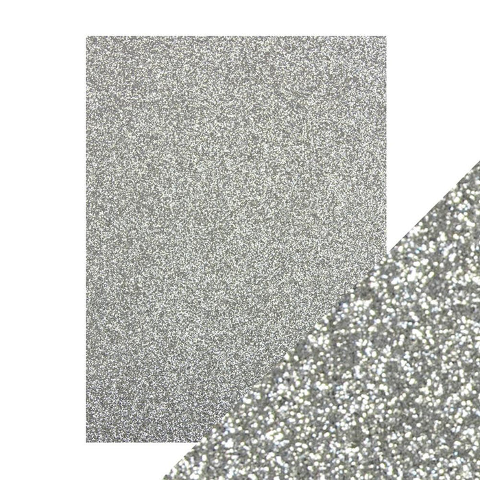 "Craft Perfect - Glitter Card - Silver Screen - 8.5"" x 11"" (5/PK) - tonicstudios"