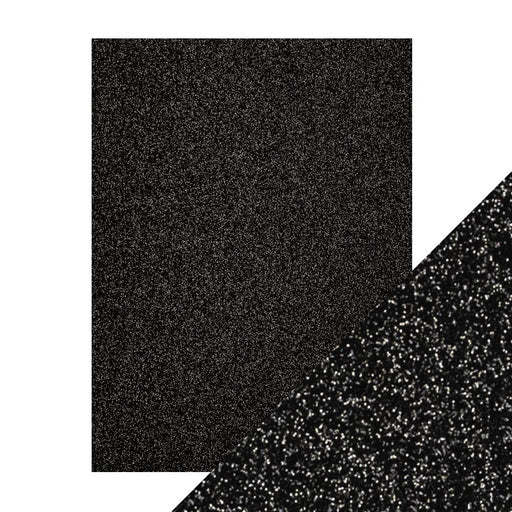 "Craft Perfect - Glitter Card - Black Sapphire - 8.5"" x 11"" (5/Pk)  - 9963e - tonicstudios"