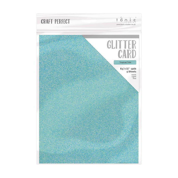 Craft Perfect - Glitter Card Bundle - Unicorn Tail - USB418