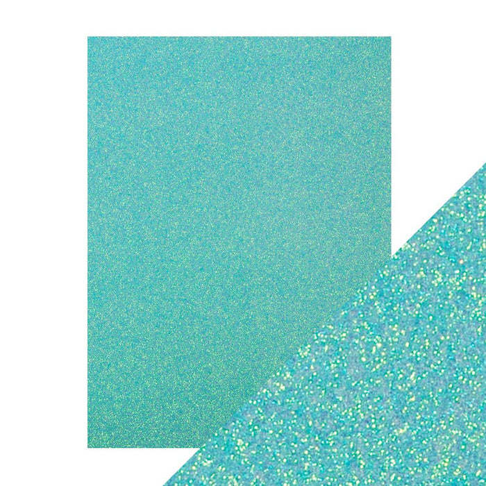 "Craft Perfect - Glitter Card - Tropical Tide - 8.5"" x 11"" (5/Pk) - tonicstudios"