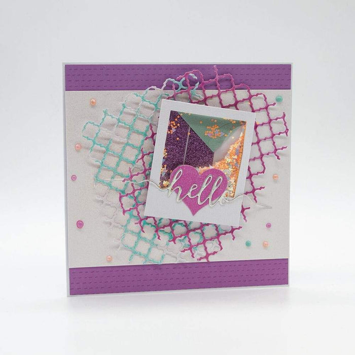 "Craft Perfect - Glitter Card - Berry Fizz - 8.5"" x 11"" (5/Pk) - tonicstudios"