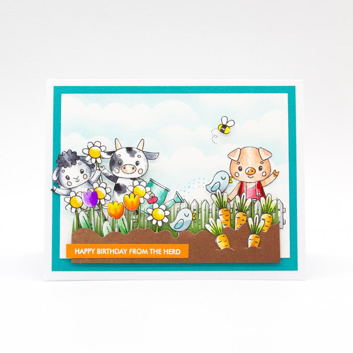 "Tonic Studios - Garden Party Stamps - Celebrate Friendship - 6""x 8"" / A5 - 3010e"