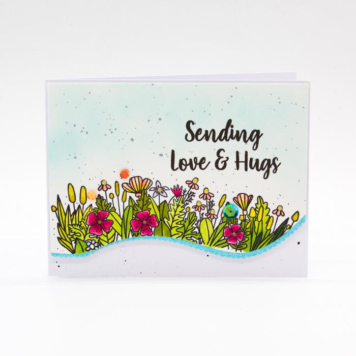 "Tonic Studios - Garden Party Stamps - Botanical Burst - 6""x 8"" / A5 - 3006e"