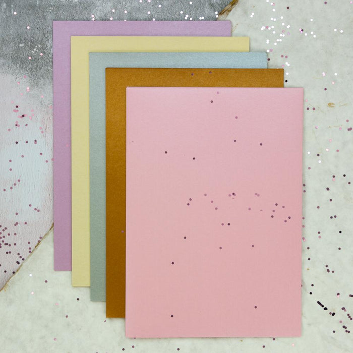 Craft Perfect - Pearlescent Card - Bundle - Pretty Pearls - USB245