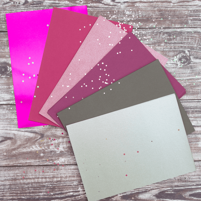 Craft Perfect - Card Bundle - Magenta & Silver - USB421