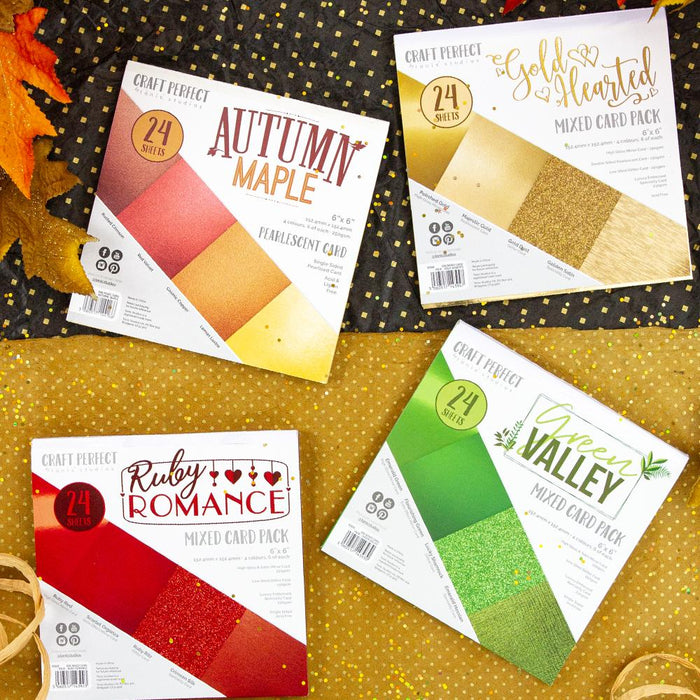 Craft Perfect - 6x6 Card Pack Bundle - Falling Leaves - USB446