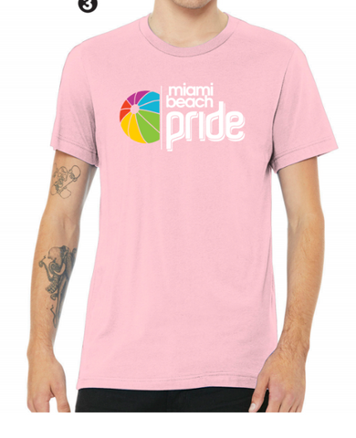 Miami Beach Pride T-Shirt Pink
