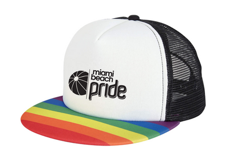 Miami Beach Pride Rainbow Bill Hat