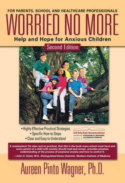 Worried No More is an OCD book by Dr. Aureen Pinto Wagner about treating anxiety and obsessive compulsive disorder (OCD) in children and adolescents using cognitive behavioral therapy (CBT). It covers generalized anxiety disorder, separation anxiety, specific phobia such as agoraphobia, the symptoms and facts of OCD, and their treatments.