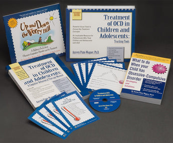 These OCD books and CD-ROM provide OCD training for professionals to help therapists and mental health professionals treat anxiety and obsessive compulsive disorder (OCD) in children and teens. Symptoms of OCD disorder, anxiety disorders in children, and cognitive behavioral therapy (CBT) as a treatment for anxiety and OCD are all discussed.
