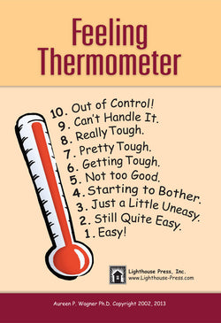 The Feeling Thermometer is a key tool in the treatment of OCD in children and the treatment of anxiety. It is a key component in cognitive behavioral therapy (CBT) treatment and helps children and adolescents articulate their symptoms and anxiety levels in a way that parents, caregivers, and mental health professionals can understand and respond to.