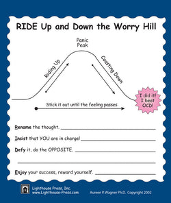 An ideal tool for implementation of the Worry Hill protocol by Dr. Aureen Pinto Wagner. Provides help for dealing with and controlling the symptoms of anxiety and OCD in children and adolescents.