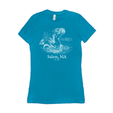 Salem Mermaid Fitted T-Shirts (white ink)