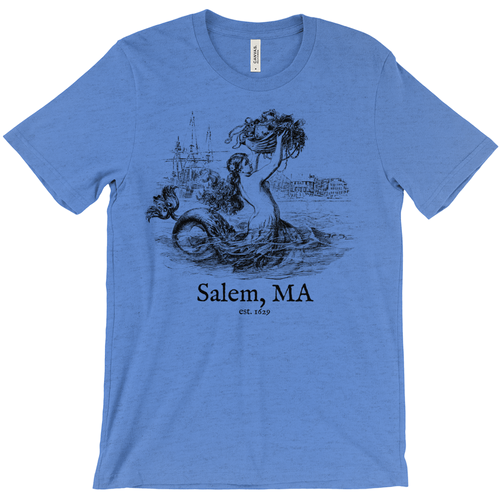 Salem Mermaid Straight Fit T-Shirt