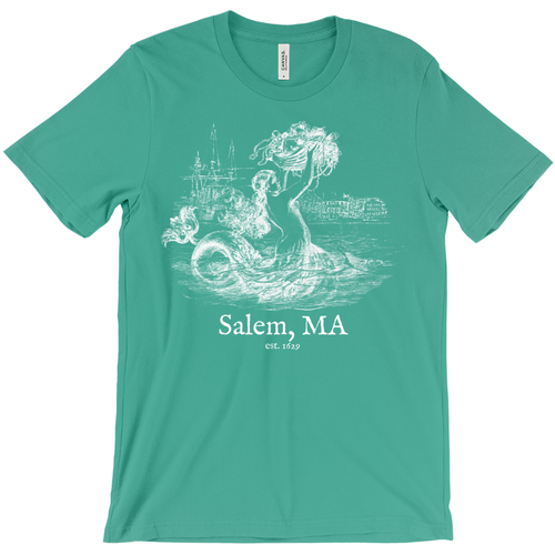 Salem Mermaid Straight Fit T-Shirt - Negative Print