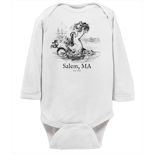 Salem Mermaid Baby Long Sleeve Onesie