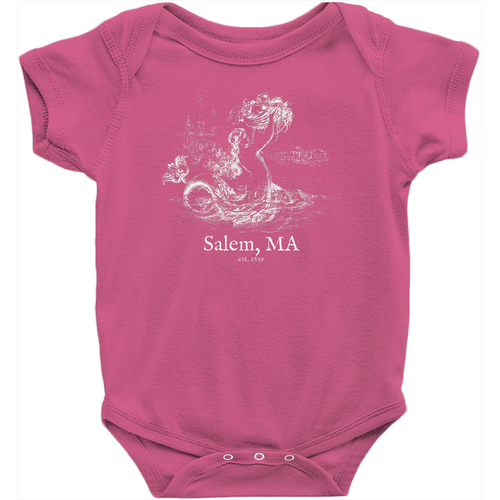 Salem Mermaid Baby Onesie - Negative Print