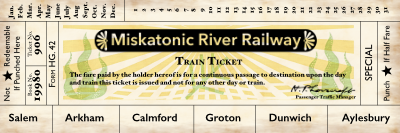 Miskatonic Railroad Book Mark