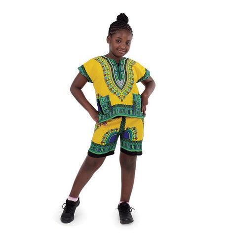 Kids Dashiki Set: Gold