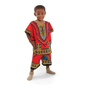 Kids Dashiki Set: Red - B&R African Styles