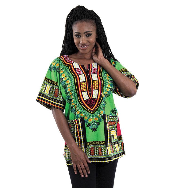 Medium Lime Dashiki - B&R African Styles