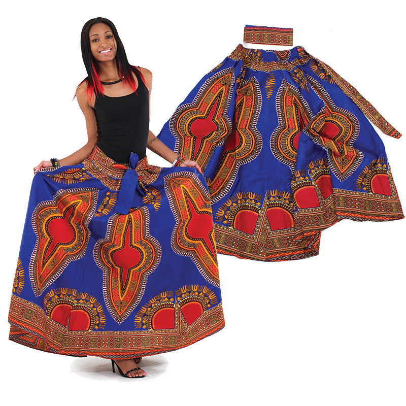 Blue Maxi Skirt - B&R African Styles