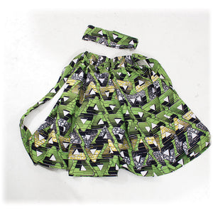 Lime Triangles Print Skirt - B&R African Styles