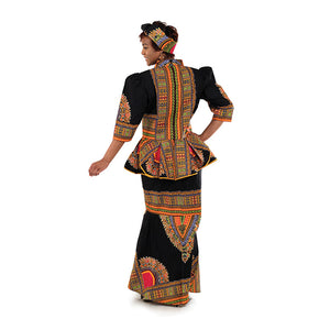 Black (Size:14) Luxury Skirt Set - B&R African Styles