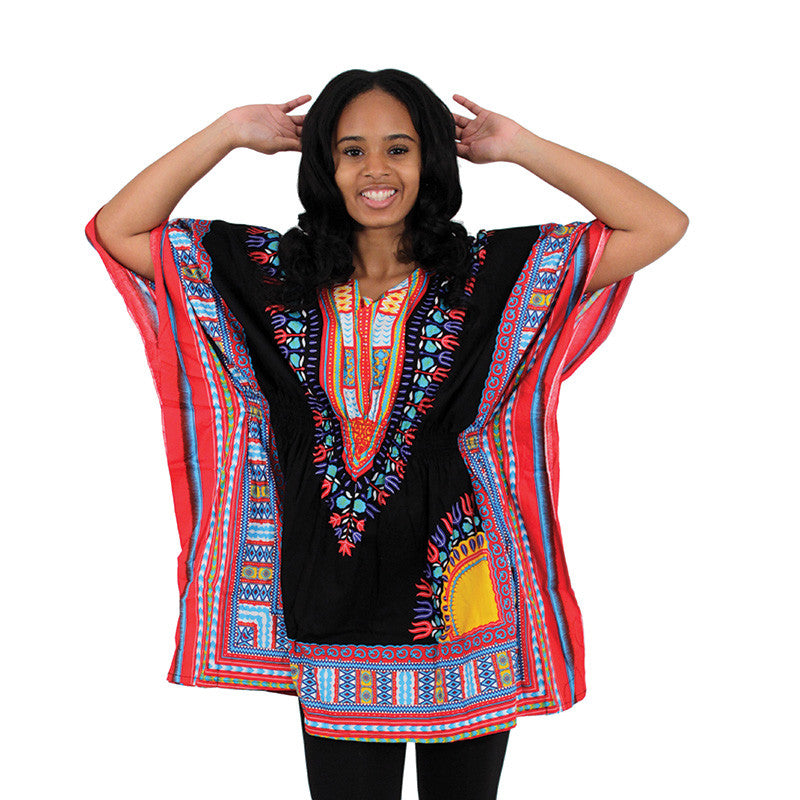 Black/Red Dashiki - B&R African Styles