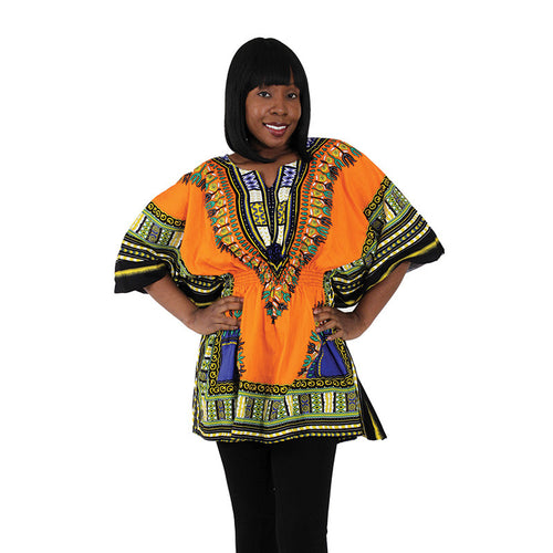 Orange Elastic Dashiki - B&R African Styles