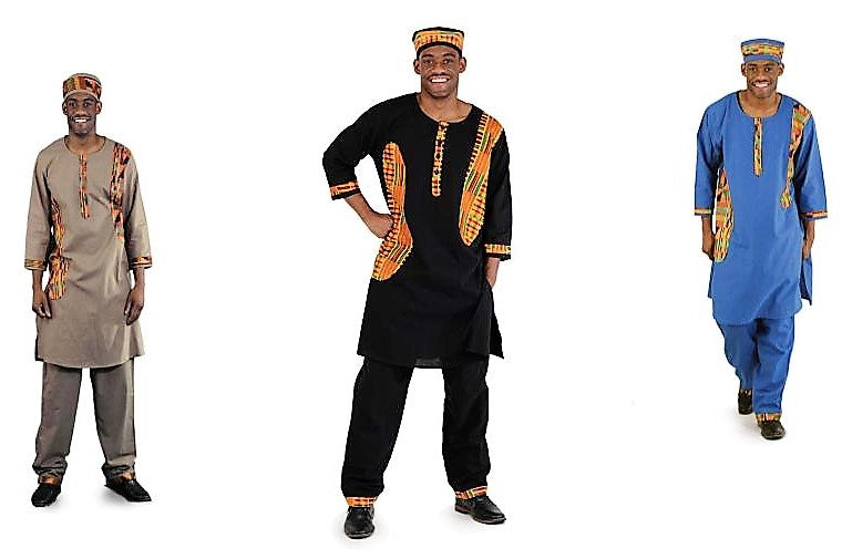 Exotic Kente Accent Pant Set - B&R African Styles