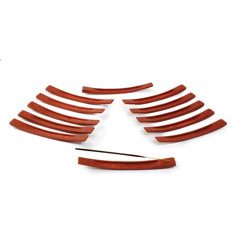 Curved Wood Incense Burners Set of 12