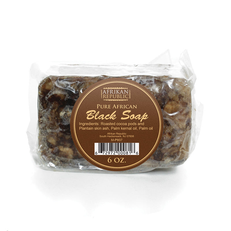 African Black Soap Pure - B&R African Styles